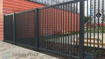 Сварной забор для школы