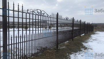 Кованый забор на винтовых сваях