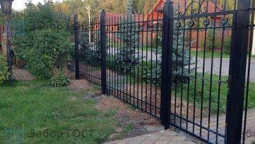 Ковано-сварной забор c патиной для дачи